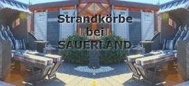 Neuer Strandkorb in der SAUERLAND Ausstellung