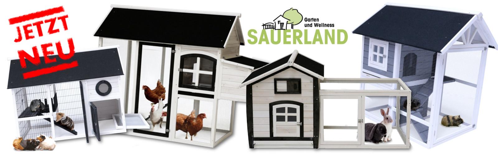 NEU! Kleintiergehege mit Auslauf / Hühnerstall bei SAUERLAND