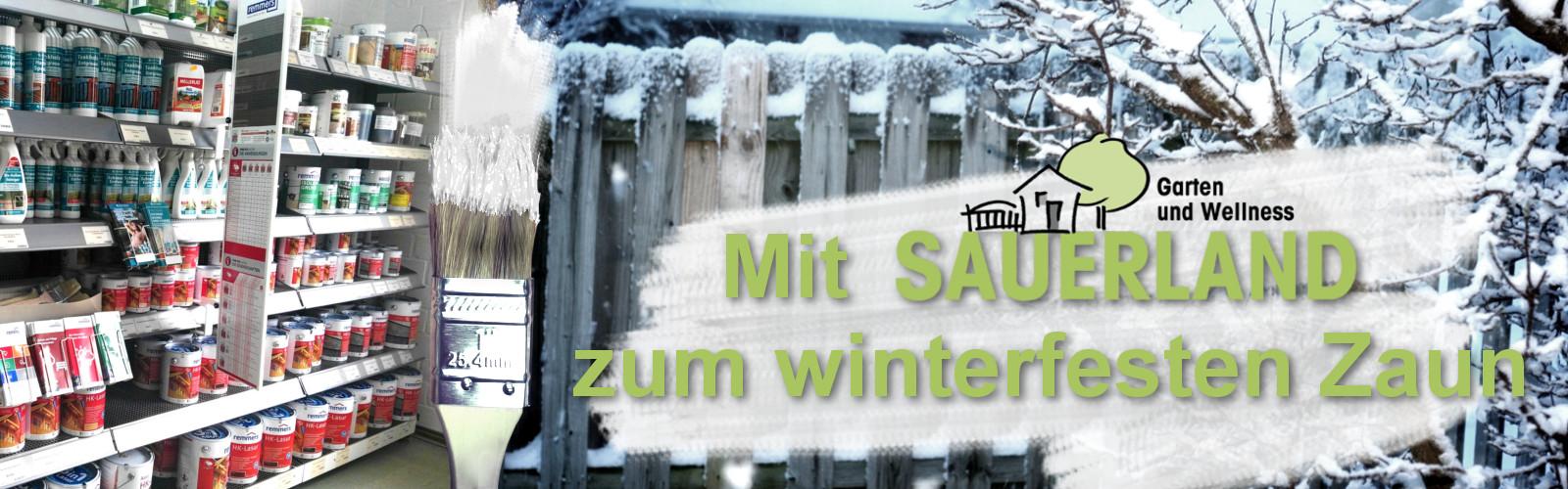 Den Zaun streichen und winterfest machen – Zaunfarbe und Zaunlasur