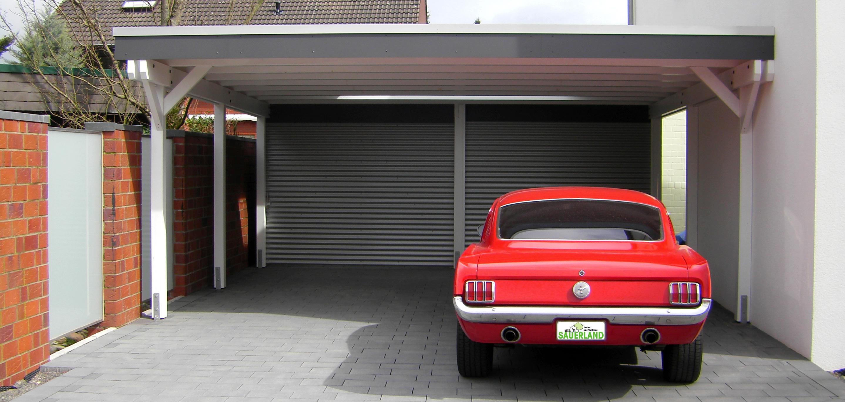 Mustang in Carport