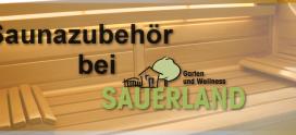 Saunazubehör zum Mitnehmen bei SAUERLAND