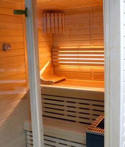 Espenholzsauna 150x150cm Innenausstattung