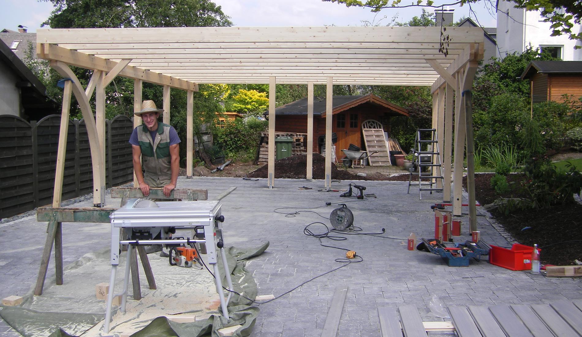 Carport Aufbau
